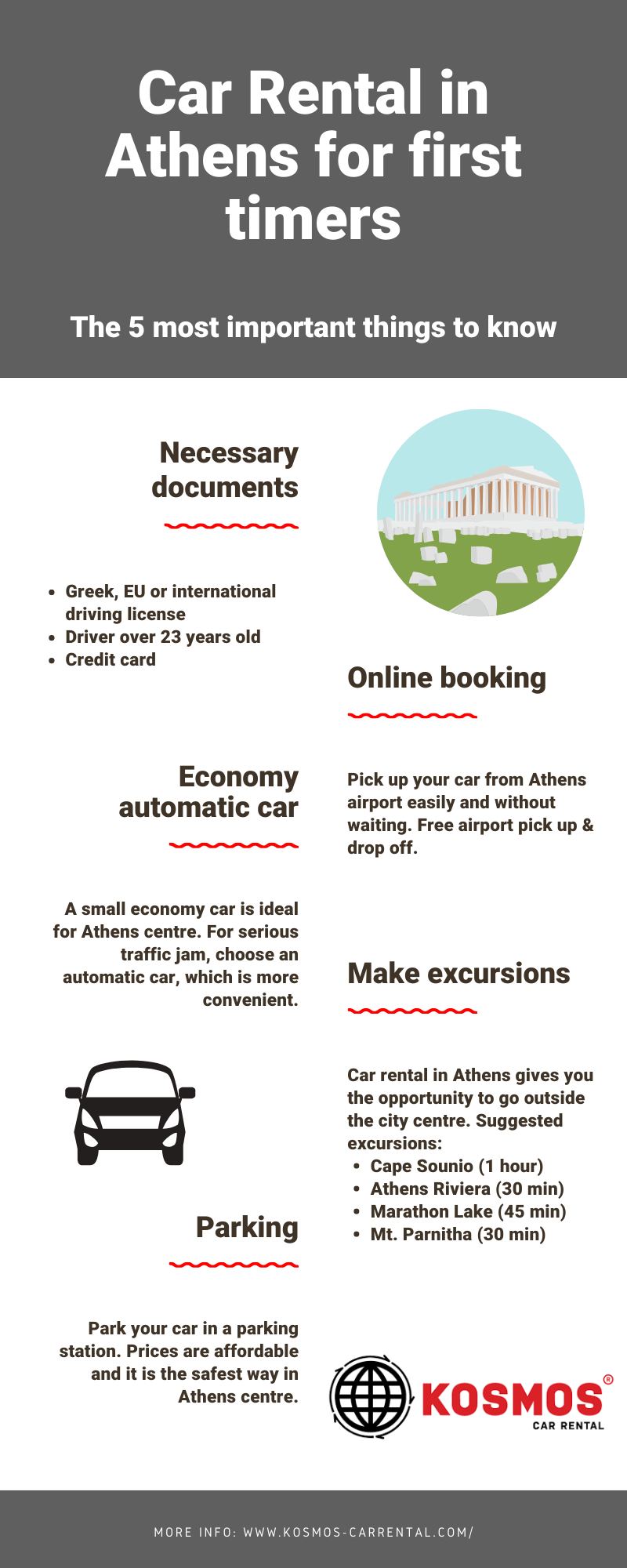 Car rental in Athens for first timers